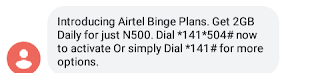 How To activate Airtel 2GB for N500 Data Plan | Airtel Binge plans 2