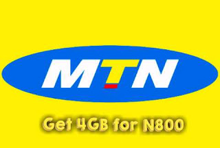 MTN cheap data plan   4GB for N800