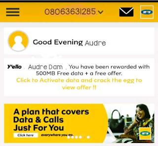 Free internet cheat | Get free 500MB data on My MTN app 2