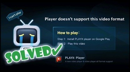 Player doesn't support this video format Vidmate